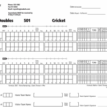 Mixed Doubles 501 Cricket 13 Game